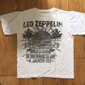 White Led Zeplin T shirt
